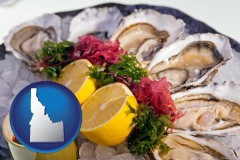 idaho map icon and raw bar oysters