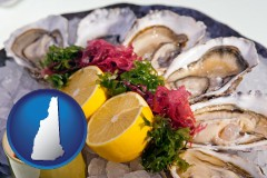 new-hampshire map icon and raw bar oysters